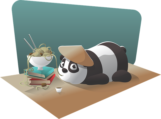 Panda, Character, Chinese, Noodle, Cartoon, Funny