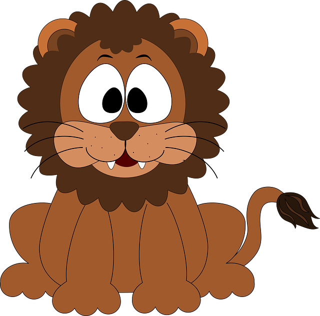 Loin, Cartoon, Inkscape, Design, Cute