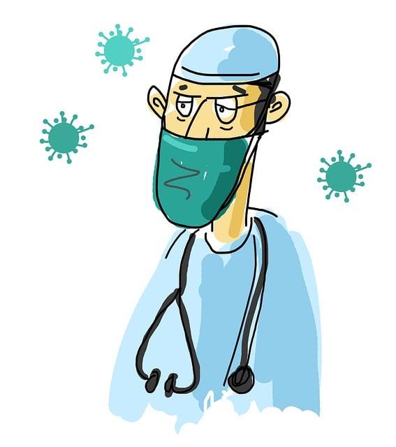 Cartoon Doctor, Covid Doctor, Hygiene, Mask
