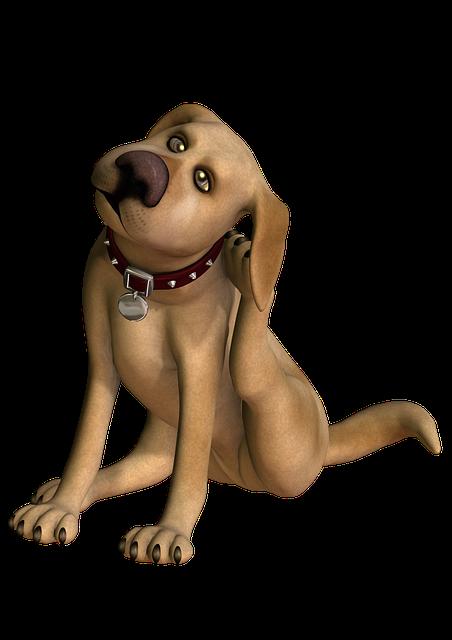 Dog Scratching, Cartoon Dog, Poser Dog, Com, Dog