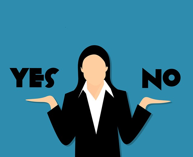 Doubts, Yes, No, Business, Mistake, Cartoon, Correct
