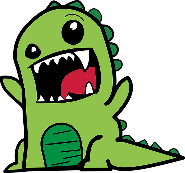 Cartoon, Comic, Dino, Dinosaur, Green, Ideas, Smile