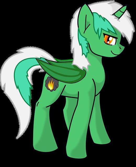 Pony, Cartoon, Cute, Horse
