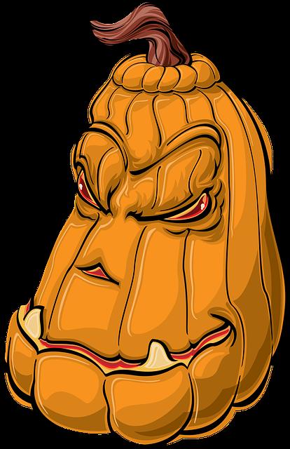 Pumpkin, Halloween, Cartoon, Happy Halloween