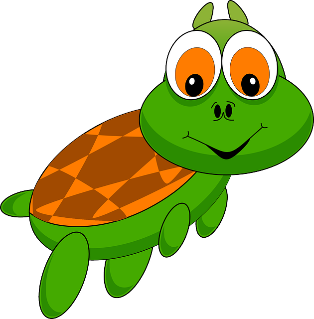 Turtle, Tortoise, Animal, Cartoon, Zoo, Funny, Comic