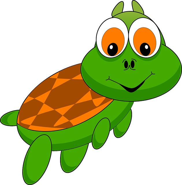 Turtle, Tortoise, Animal, Cartoon, Zoo, Funny, Comic