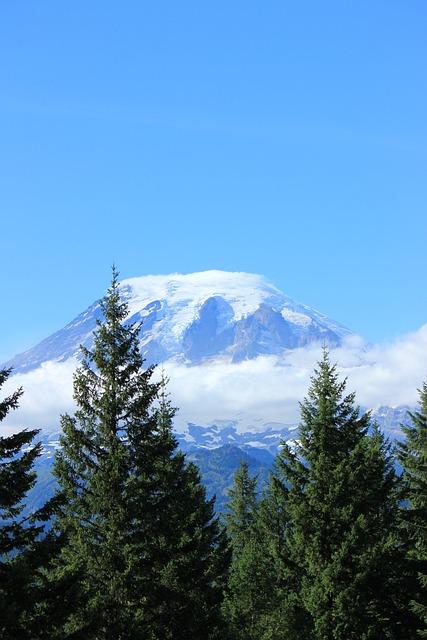Mountain, Mt, Rainier, Washington, Cascade, Hike