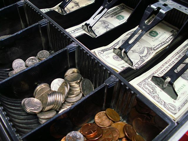 Cash Register, Drawer, Cash, Register, Money, Retail