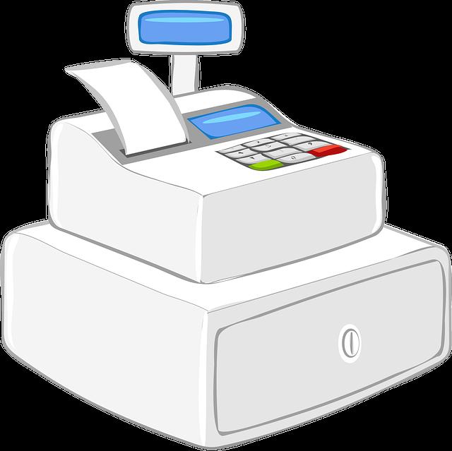 Register, Cash Register, Modern, Commercial, Machine