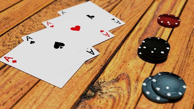Poker, Game, Token, Green, Black, Blue, Casino