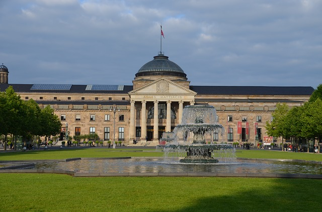 Wiesbaden, Kurhaus, Casino, Landmark, Theater, Building