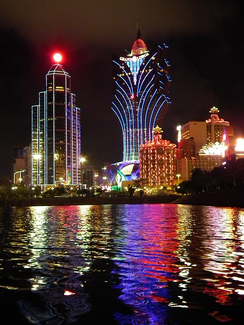 Macau, Casino, Casinos, At Night, City At Night