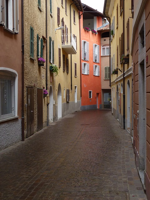 Ticino, Switzerland, Caslano, Alley