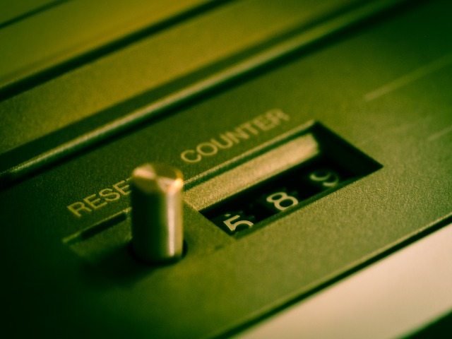Counter, Tape, Cassette Recorder, Reset, Return, 80s