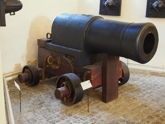 Pounder, Cast, Iron, Howitzer, Artillery, Old, Metal