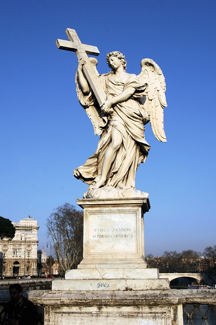 Italy, Rome, Castel Sant'angelo, Statue, Angel