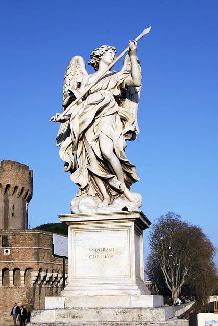 Italy, Rome, Castel Sant'angelo, Statue, Angel