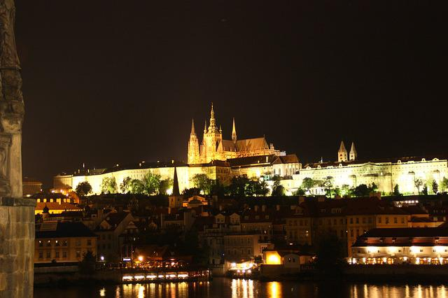 Prague, Castillo De Prague, Night