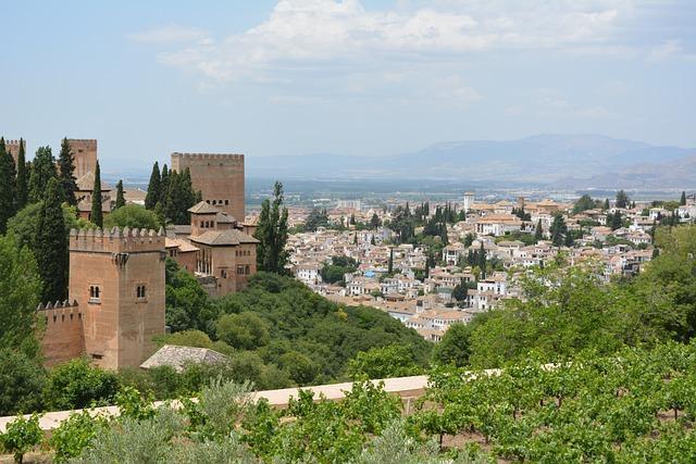 Alhambra, Castle, Granada, Spain, Alcazaba
