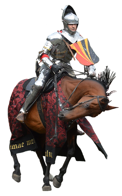 Horse, Knight, Armor, Charger, Steed, Castle, Cutout