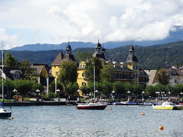 Wörthersee, Castle, Carinthia, Port, Boats, Austria