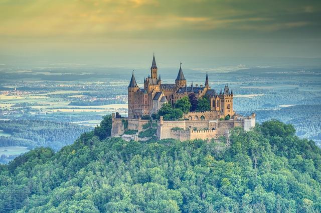 Castle, Hohenzollern, Landscape, Baden Württemberg