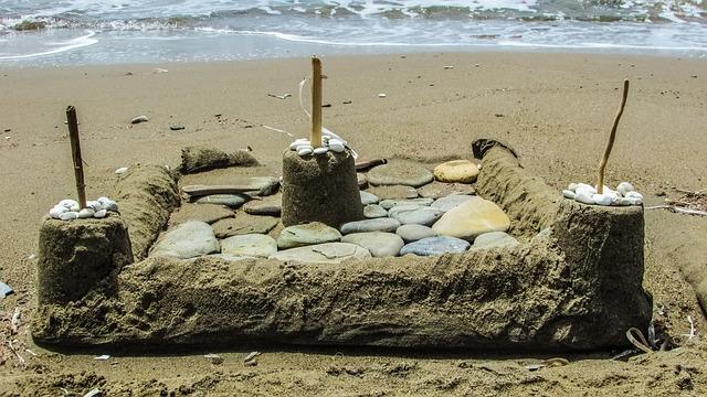 Castle, Sand, Beach, Sand Castle, Holiday, Vacations