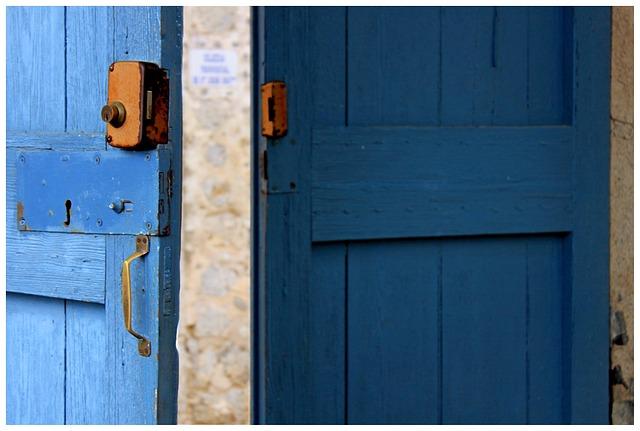 Door, Blue, Castle, Boards, Wood, Goal, Bright