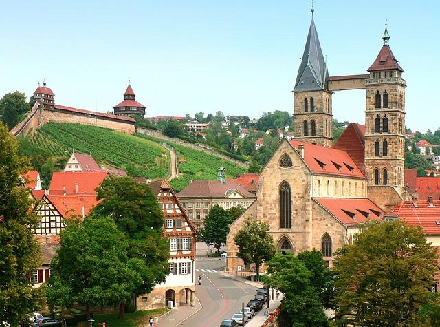 Esslingen, Neckar, City Church, Castle, Church