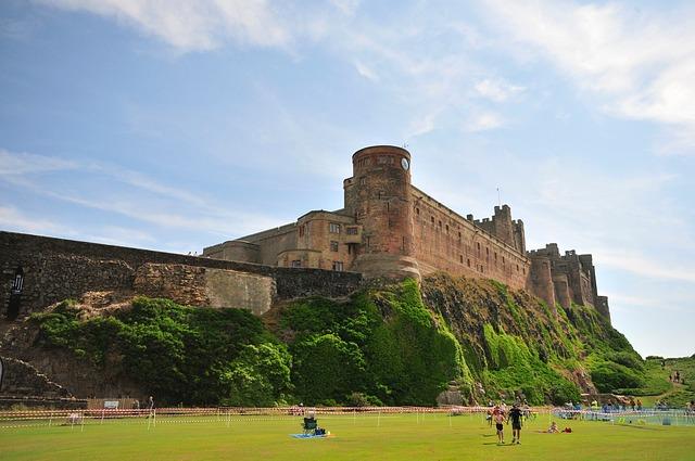 Castle, Bamburgh, Northumberland, Coast, England