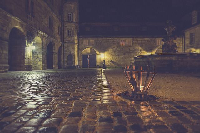 Night, Castle, Middle Ages, Fortress, Building, Dark
