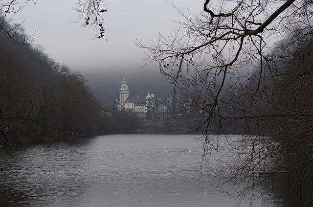 Nature, Autumn, Forest Lake, Castle, Lillafüred