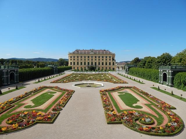 Schoenbrunn, Garden, Vienna, Castle