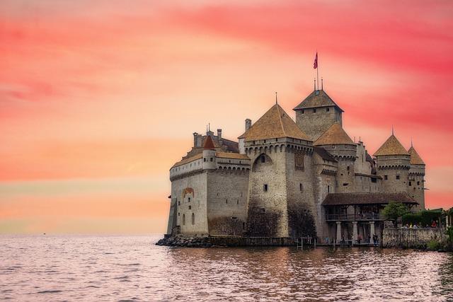 Castle, Switzerland, Architecture, Fortress, Landscape