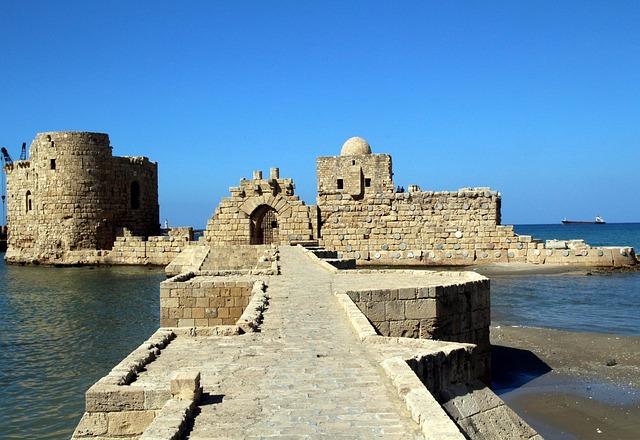 Saida, Lebanon, Beirut, Castle, Crusade, Old, Date