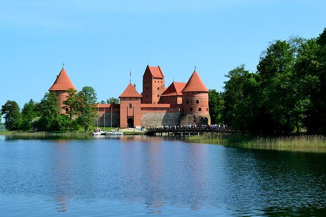 Architecture, Lake, Castle, Medieval Castle, Lithuania