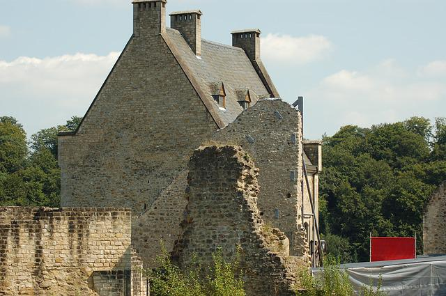Castle, Ruin, Old Buildings And Structures, Luxembourg