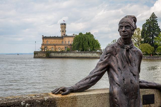 Langenargen, Lake Constance, Castle Montfort, Sculpture