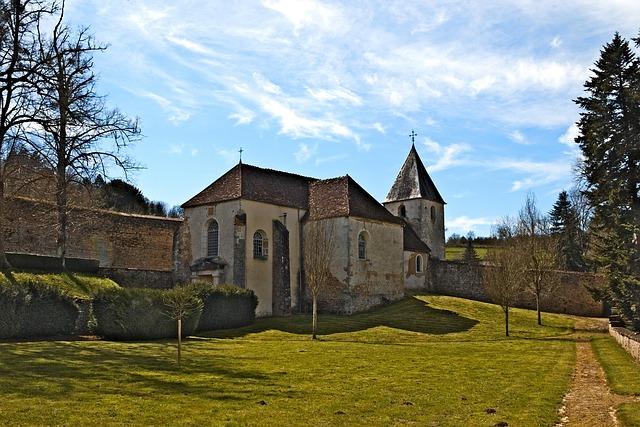 Chapel, Castle, Chatelux, Yonne, Park, Monument