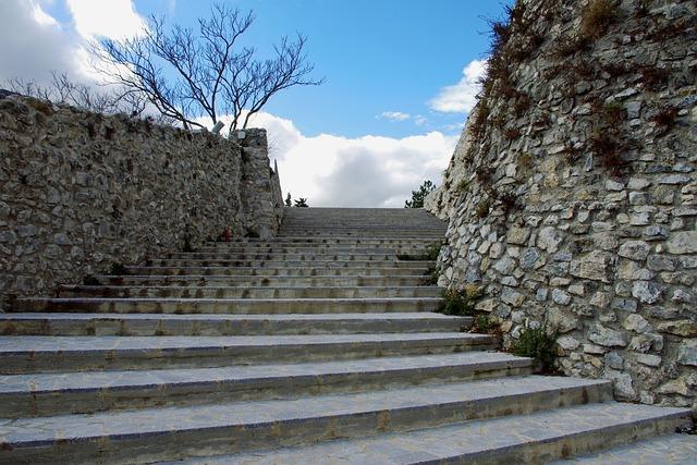 Morano, Calabria, Castle, Stairs, Morano Calabro