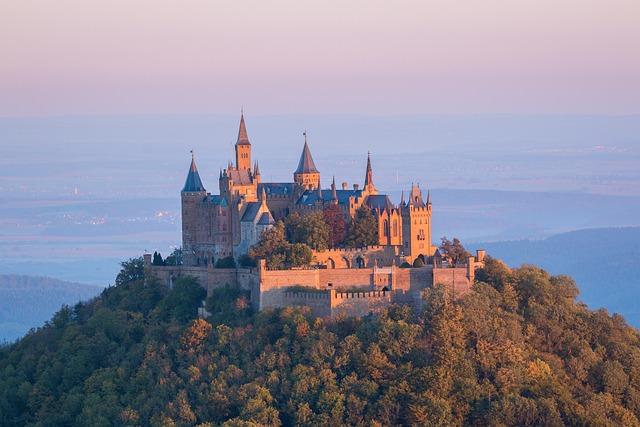 Castle, Hohenzollern, Sunrise, Fortress, Morgenstimmung