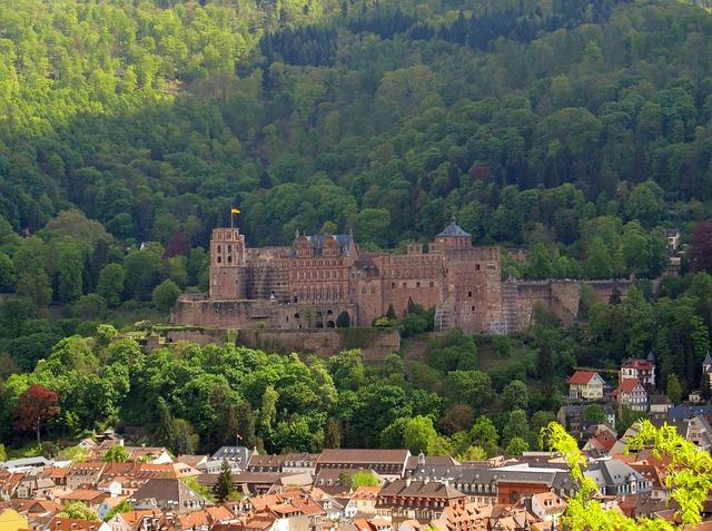 Heidelberg, Heidelberger Schloss, Neckar, City, Castle