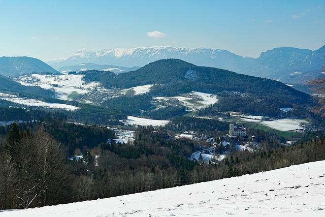 Snow, Mountain, Nature, Panorama, Winter, Castle