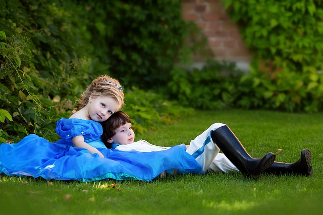 Prince And Princess, Kids, Park, Castle