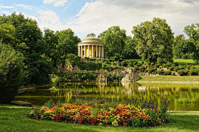 Summer, Leopoldinen Temple, Castle Park, Nature, Sky