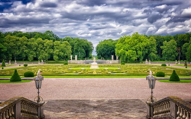 Park, Baroque, Historically, Schlossgarten, Castle Park