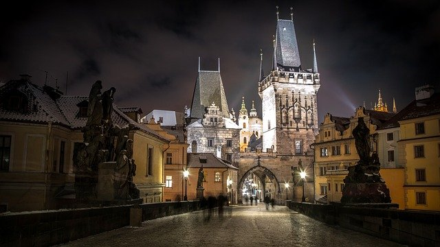 Prague, Czech Republic, City, River, Castle