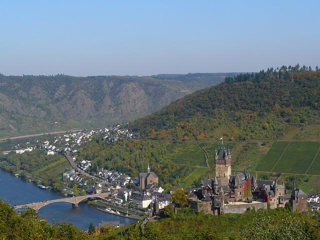 Cochem, Mosel, Sachsen, Castle, Reichsburg Cochem