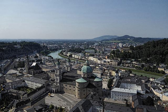Salzburg, Austria, Summer, Tourist Attractions, Castle