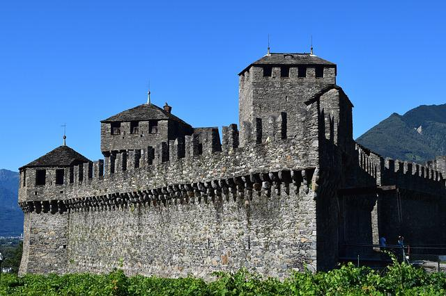 Middle Ages, Bellinzona, Switzerland, Torre, Castle